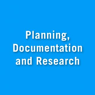 Planning, documentation and research